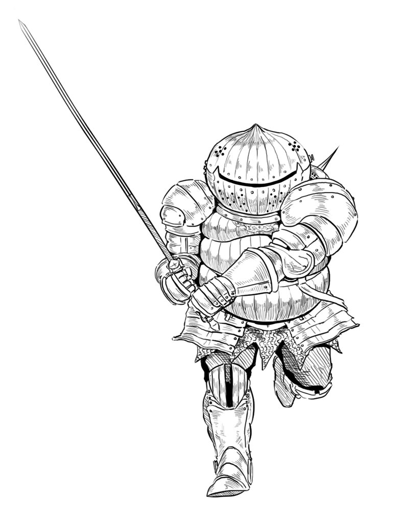 783x1020 Dark Souls Siegmeyer Charge By Menaslg