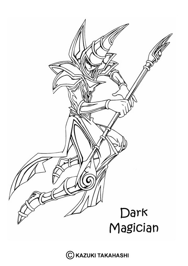 601x850 Dark Magician 1 Coloring Pages