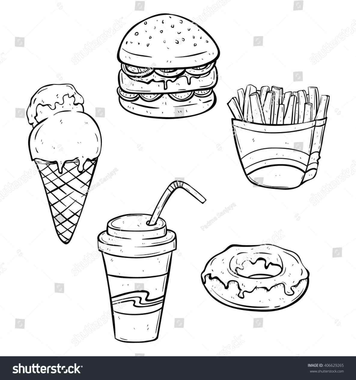 1185x1264 Unhealthy Food Drawing 2018