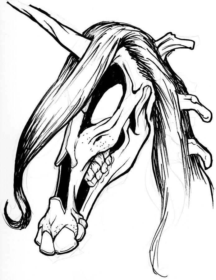 695x900 Caricatures And Ideas Dark Unicorn