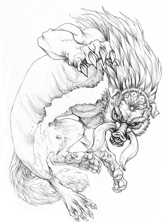 662x900 Dark Beast Ganon By Hibbary