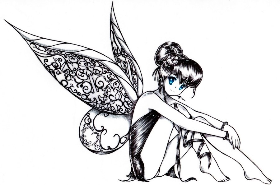 Dark Fairies Drawing At Getdrawingscom Free For Personal Use Dark