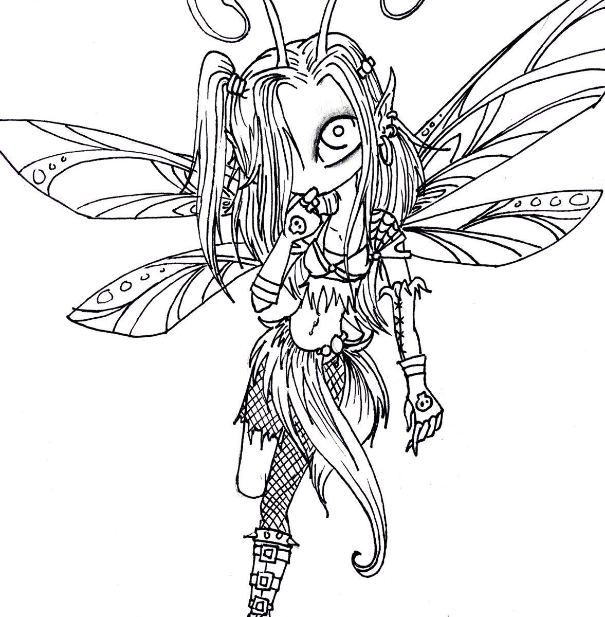 Dark Fairies Drawing at GetDrawings.com | Free for personal use Dark ...