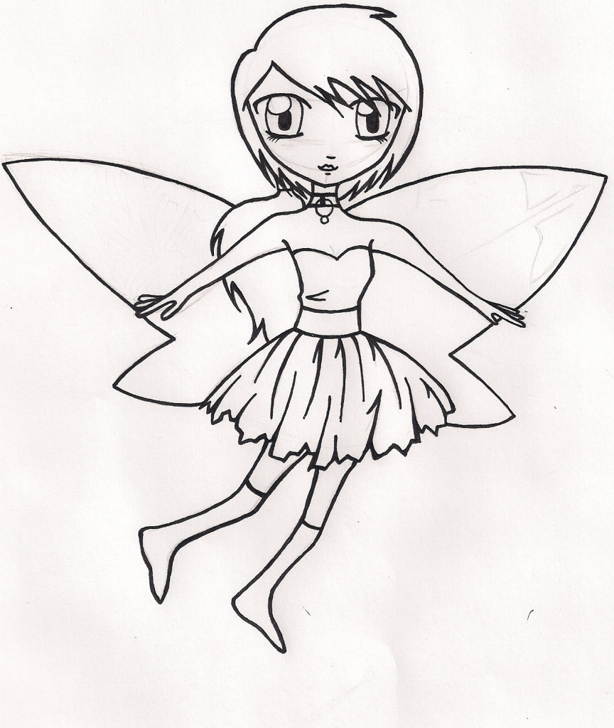 Dark Fairy Drawing