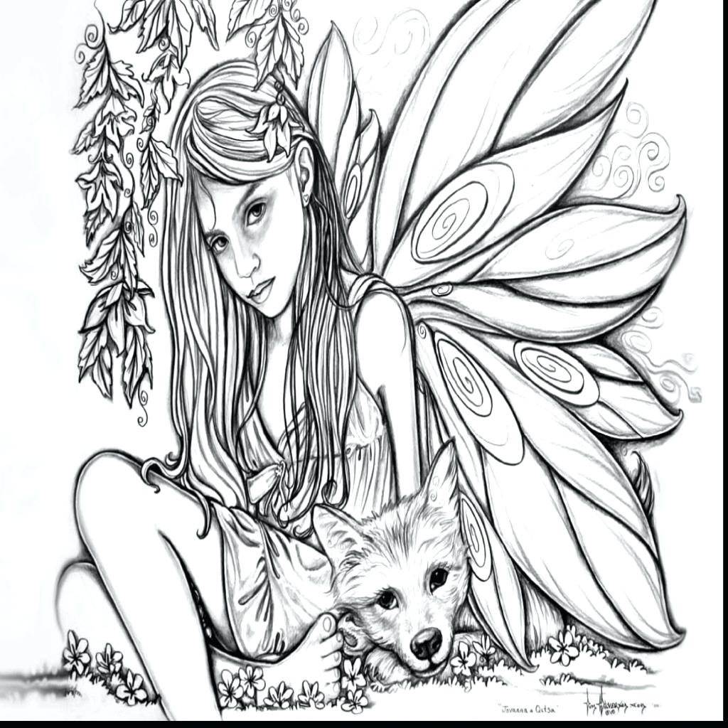1024x1024 Coloring Gothic Fairy Coloring Pages Picture Dark. Gothic Fairy