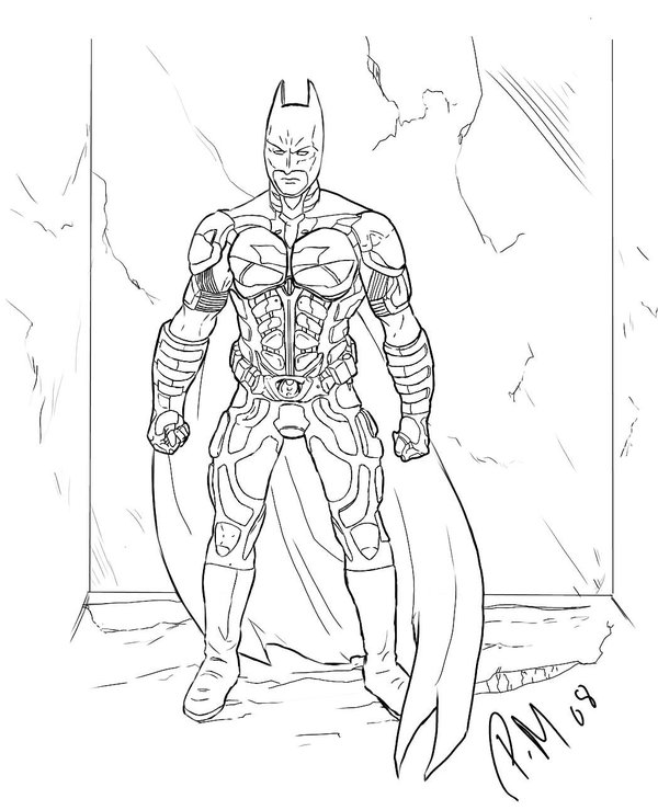 the dark night coloring pages - photo#2