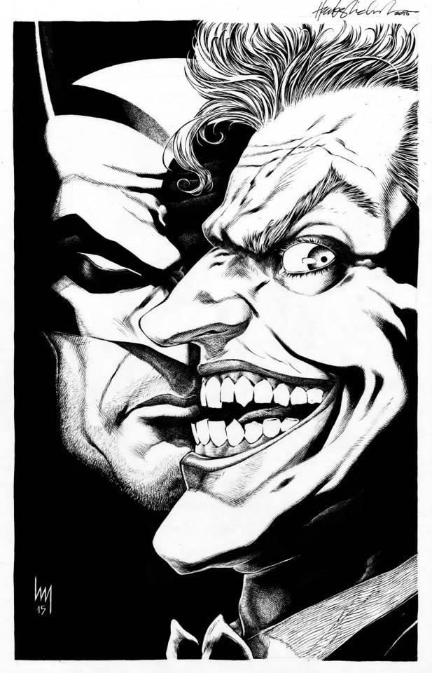 joker batman drawings
