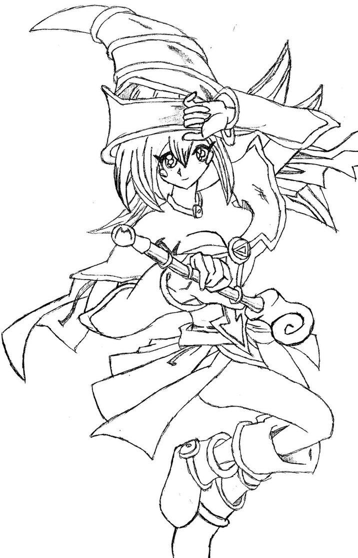 716x1116 Dark Magician Girl Sketch By Mazoonon