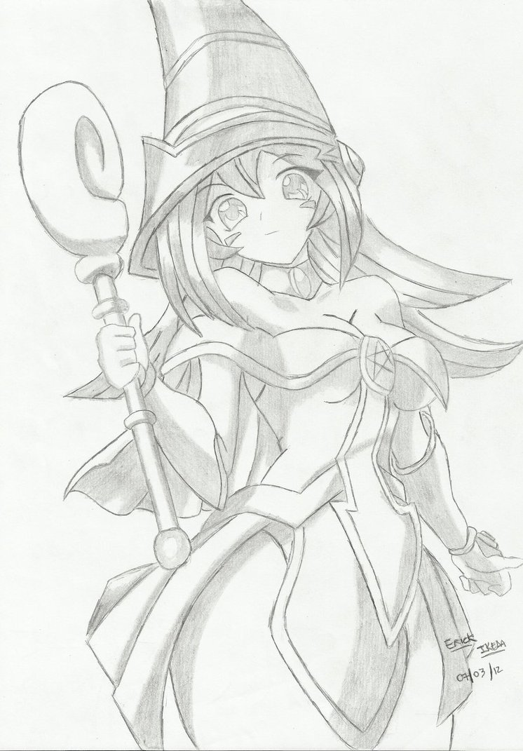 746x1071 Dark Magician Girl By Theegoistyz