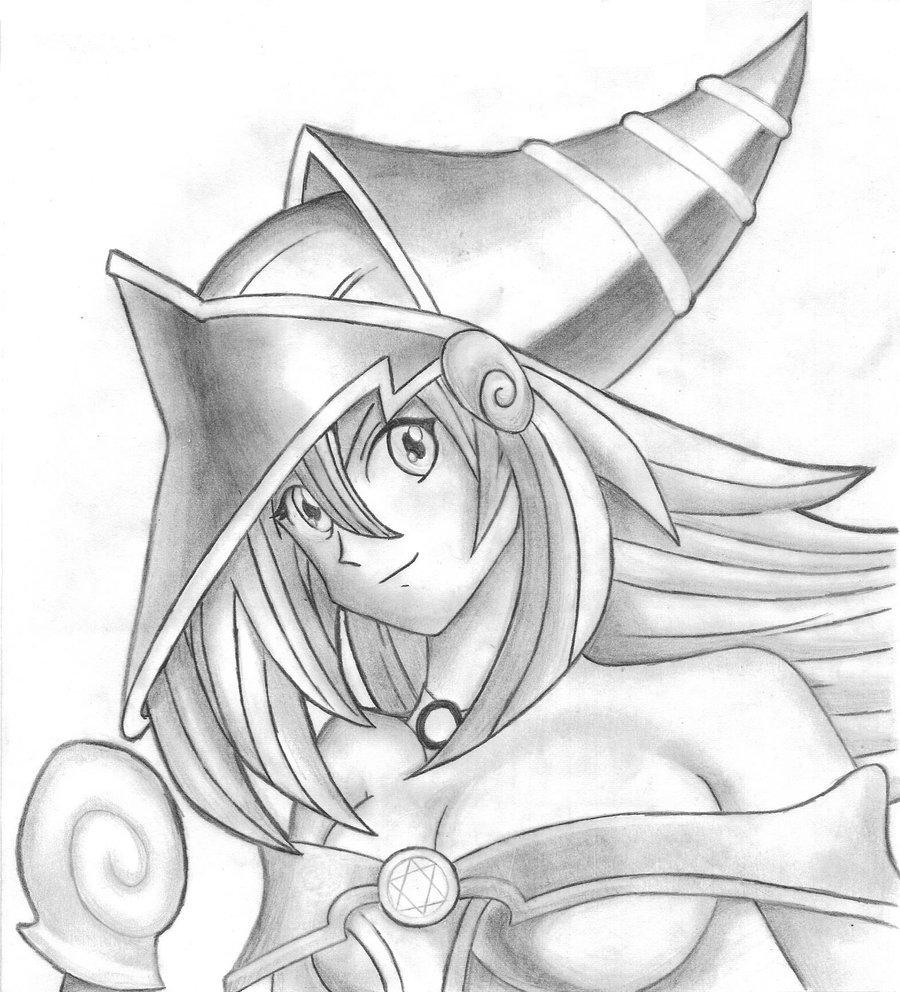 900x992 Dark Magician Girl By Lucas Silva
