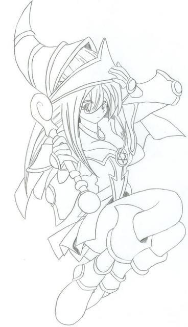 368x640 Dark Magician Girl By Zoya15