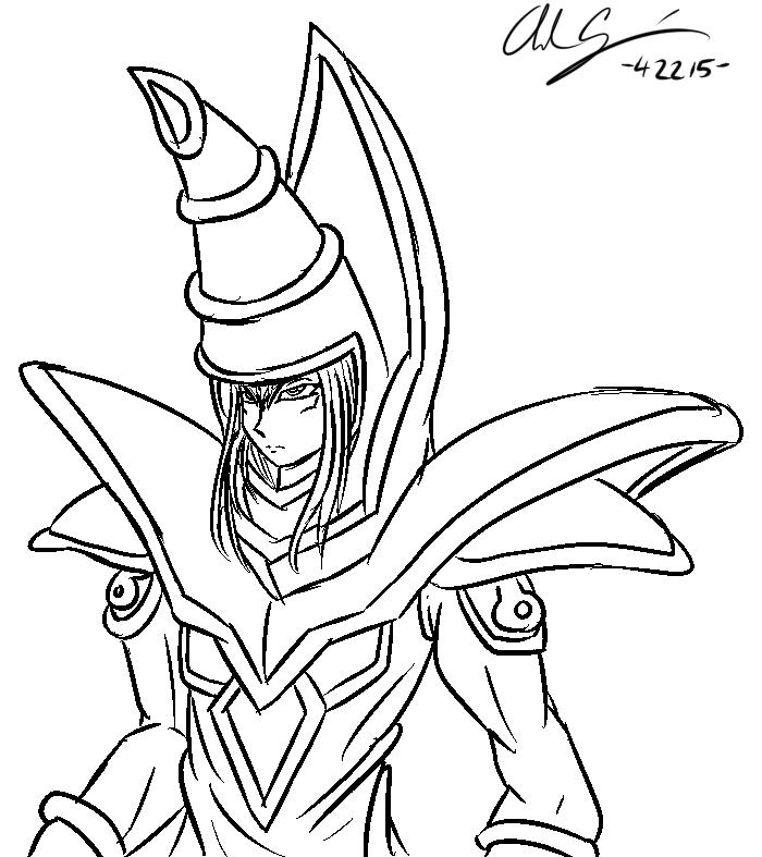 700x787 Dark Magician Sketch By Ambercyprian