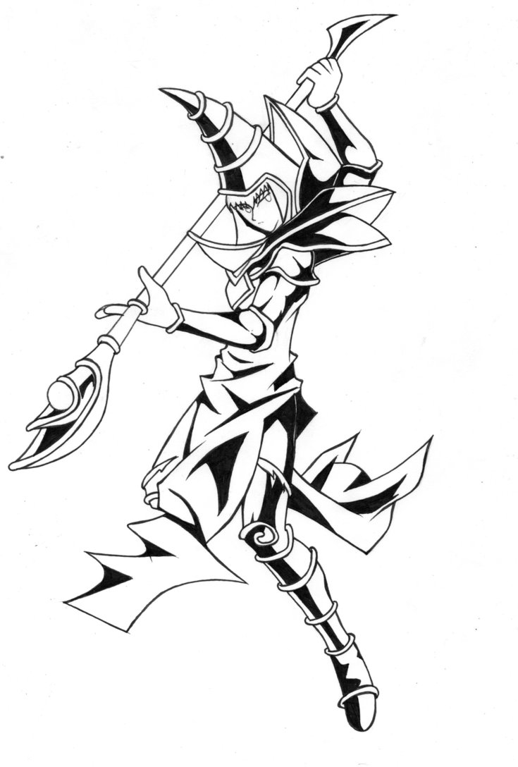 735x1088 Dark Magician El Mago Oscuro By Limakao