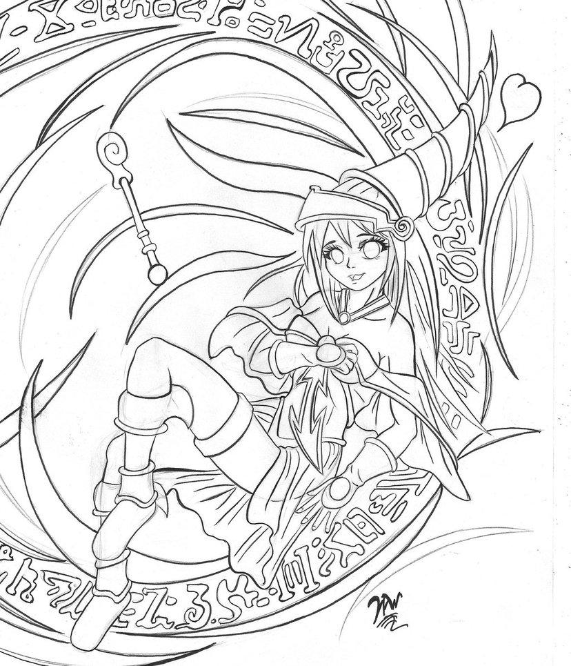 828x965 Dark Magician Girl By Hawr