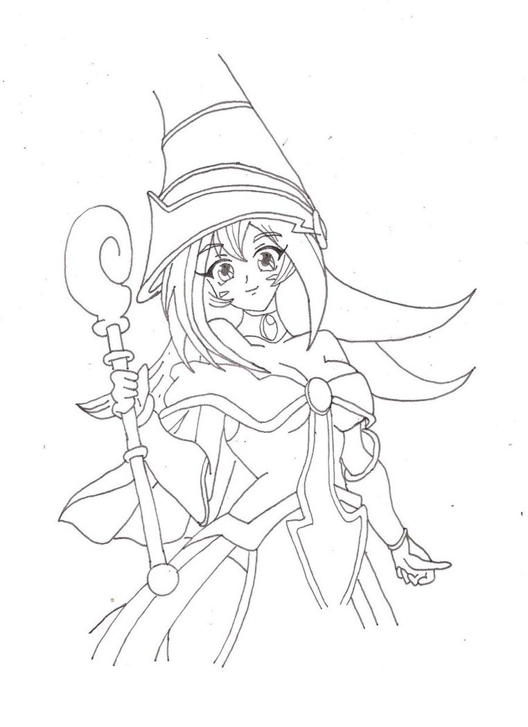 762x1048 Dark Magician Girl (Yu Gi Oh) By Veneno13