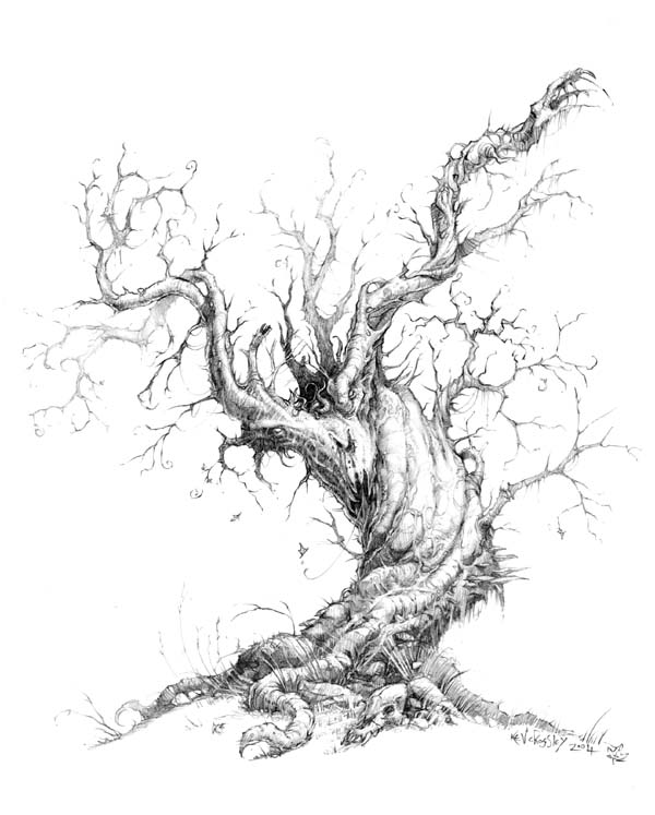 Dark Tree Drawing