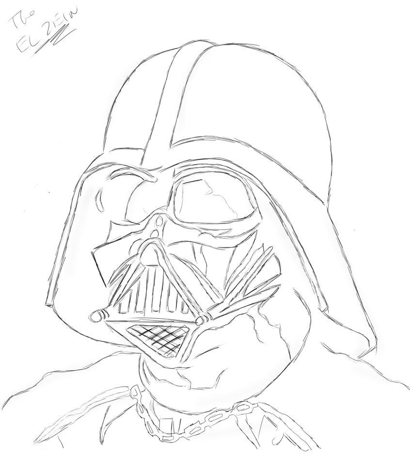 846x945 Darth Vader By Theelzein