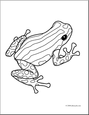 304x392 Clip Art Frogs Pasco Poison Dart Frog (Coloring Page)