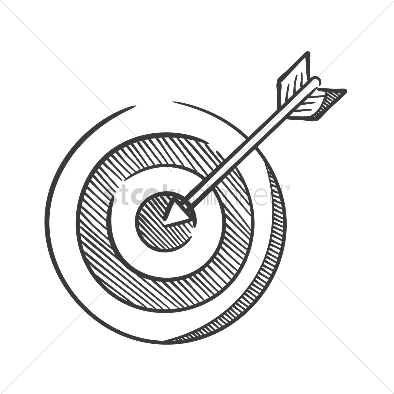 1300x1300 Dartboard With Arrow Vector Image
