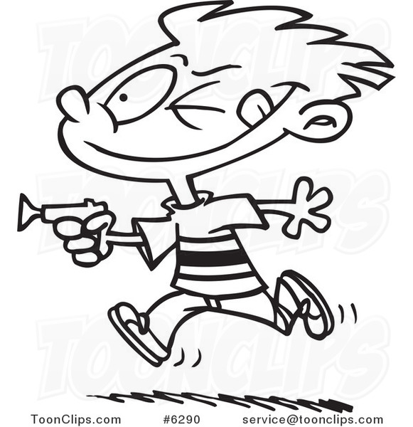 581x600 Cartoon Black And White Line Drawing Of A Boy Playing With A Dart