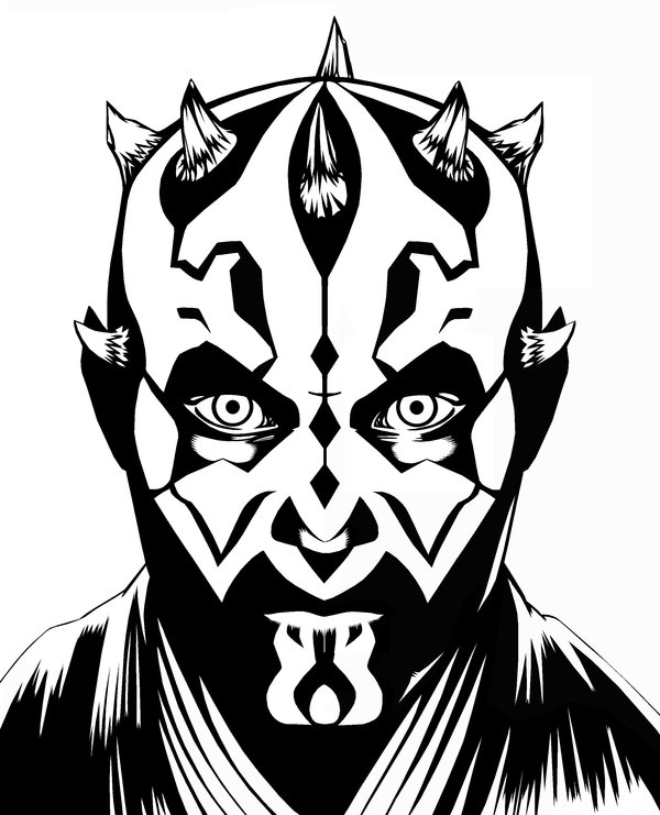 600x741 Darth Maul Inks By Brentjs