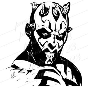 300x300 Darth Maul Star Wars Phantom Menace Sticker Vinyl Decal Vehicle