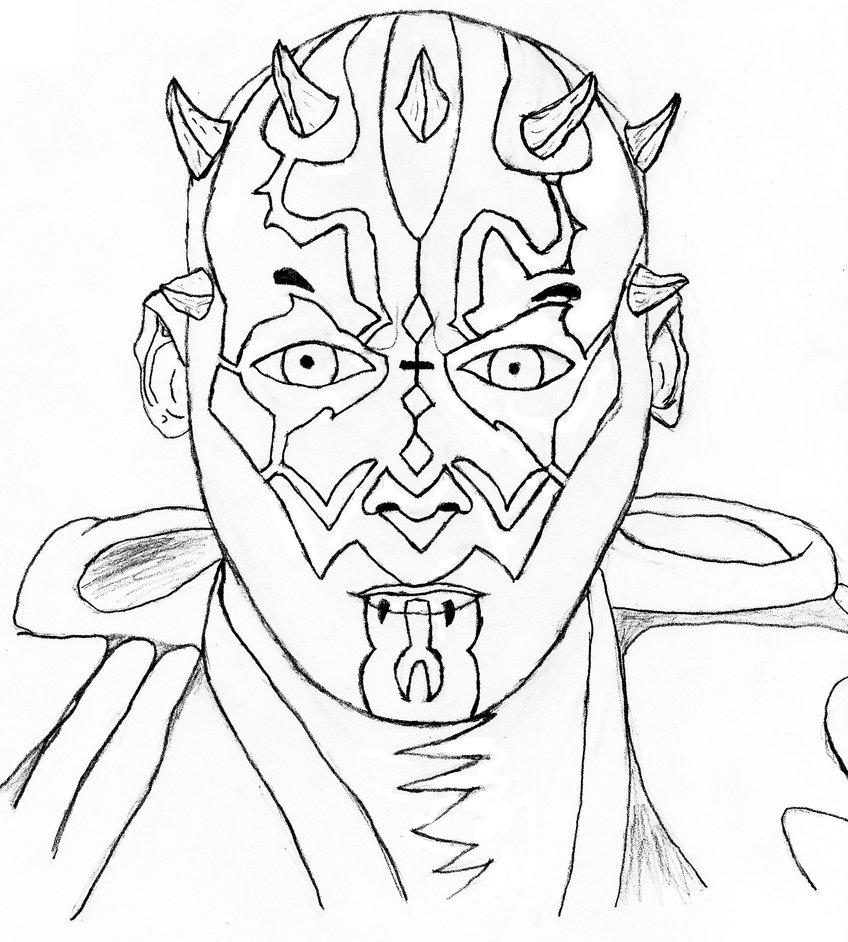 848x942 Darth Maul Rough Draft By Kijacktheartist
