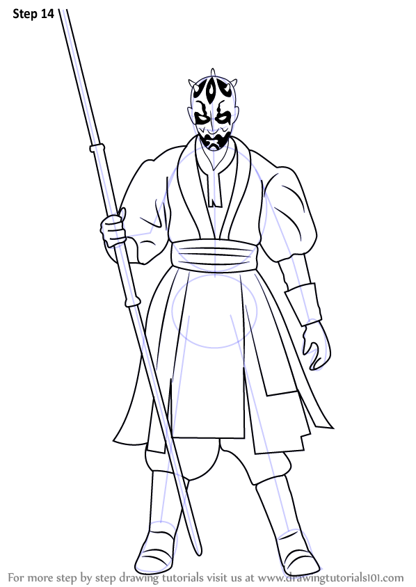 598x844 Learn How To Draw Darth Maul From Star Wars (Star Wars) Step By