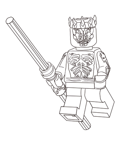 378x480 Lego Star Wars Darth Maul Coloring Page Free Printable Coloring