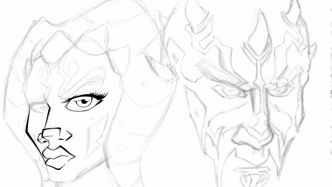1280x720 Procreate Starwars Drawing Time Lapse Ashoka And Darth Maul