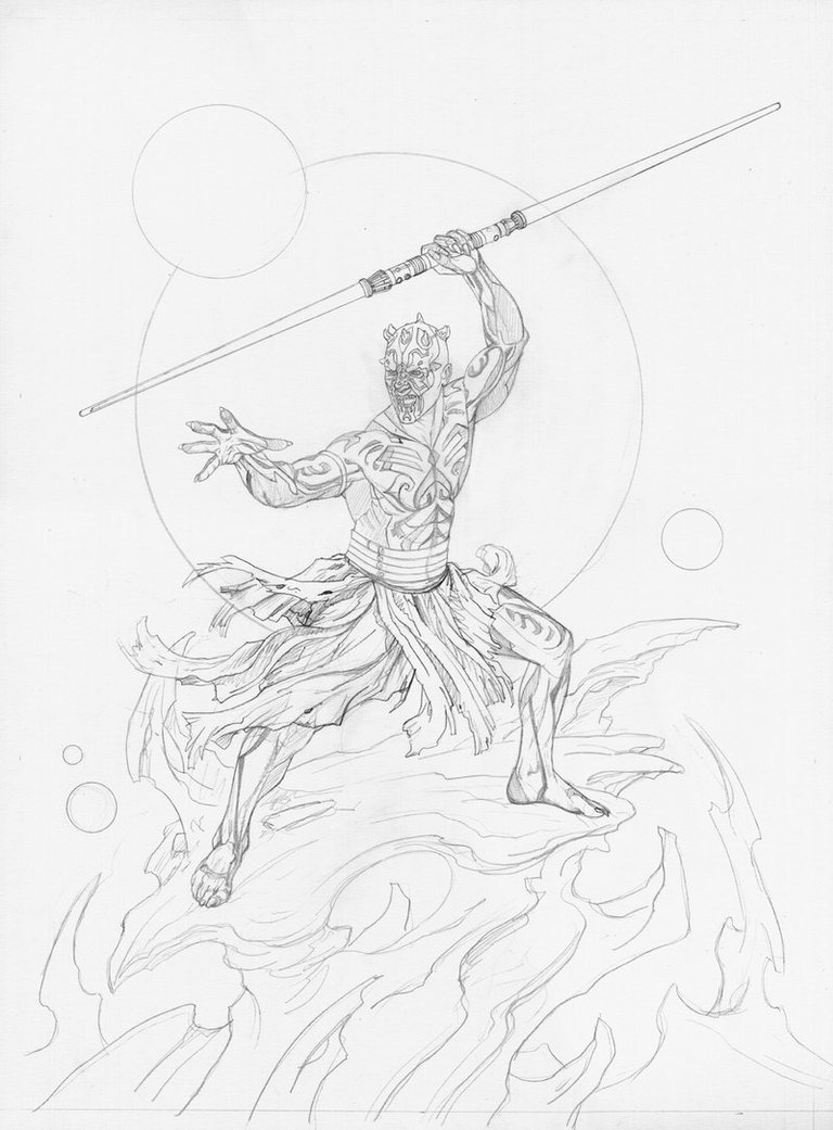 768x1041 Savage Darth Maul Pencil By Joejusko