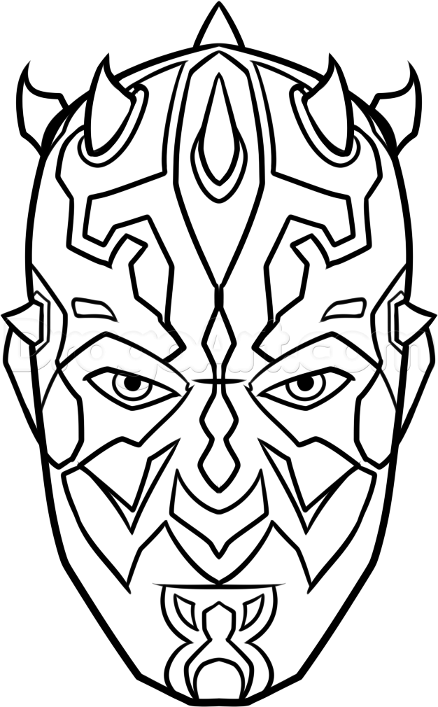 626x1010 How To Draw Darth Maul Easy Step 8 Art Darth Maul