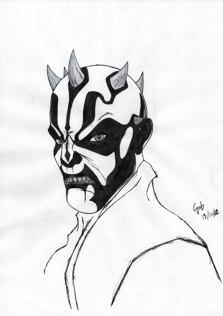 751x1064 Darth Maul (White) By Gabmasca
