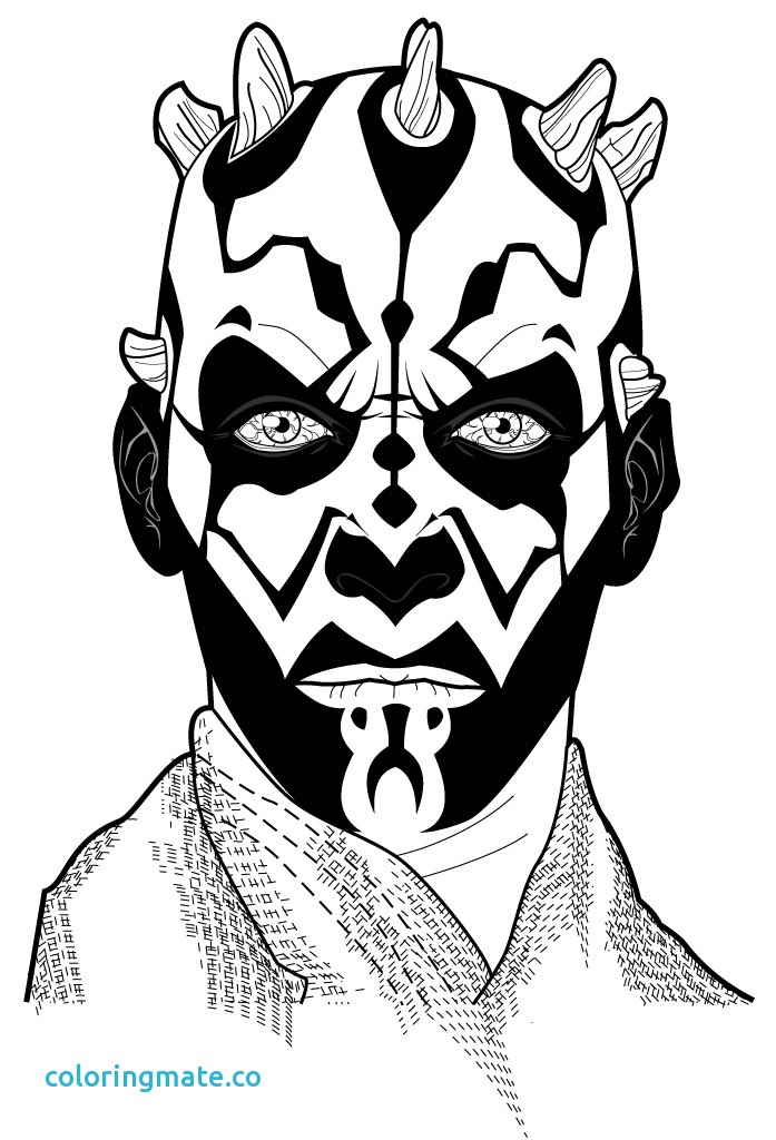 697x1024 Darth Maul Coloring Page Awesome How To Draw Darth Maul
