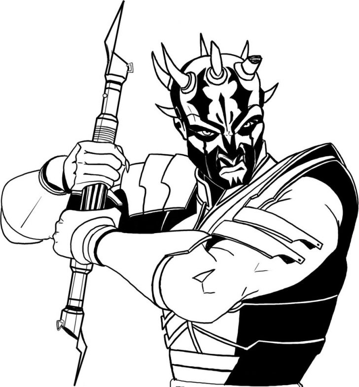 728x785 Darth Maul Coloring Pages