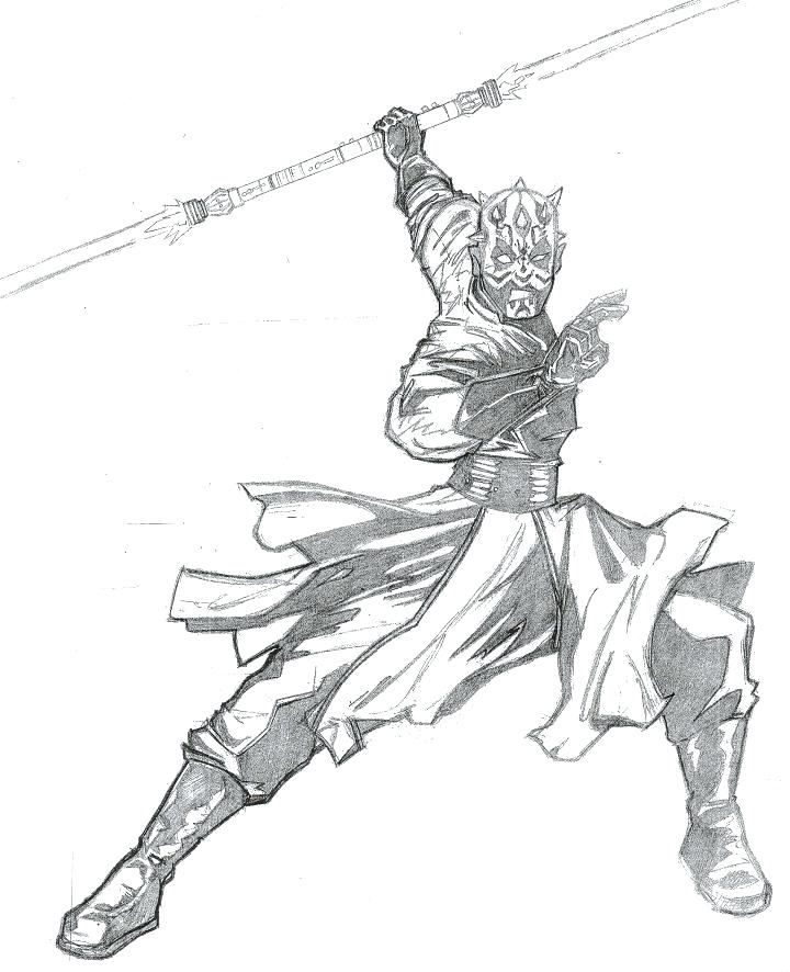 printable star wars darth maul coloring pages  coloring