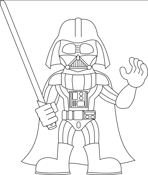 608x718 Darth Vader Coloring Pages