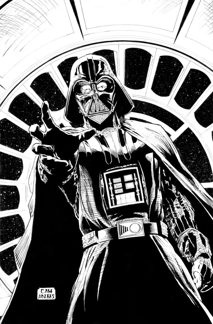 725x1101 Darth Vader Commission Inks By Camadams0925