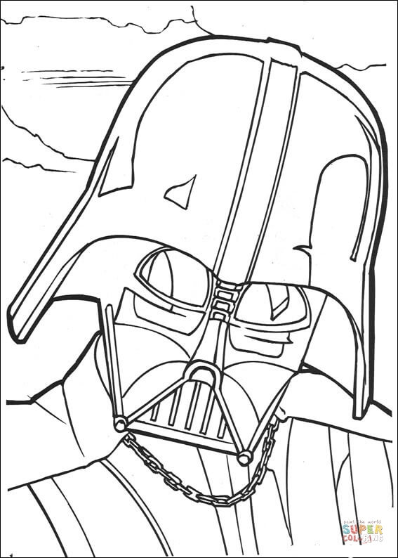 567x794 Darth Vader Face Coloring Page Free Printable Coloring Pages