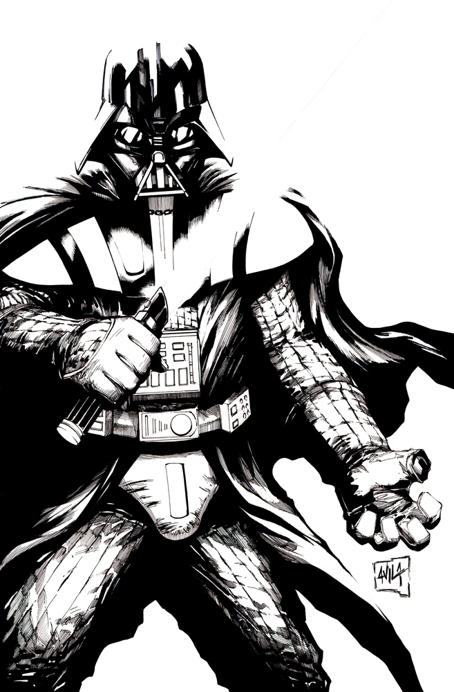 657x1000 Darth Vader Inks By Hanzozuken
