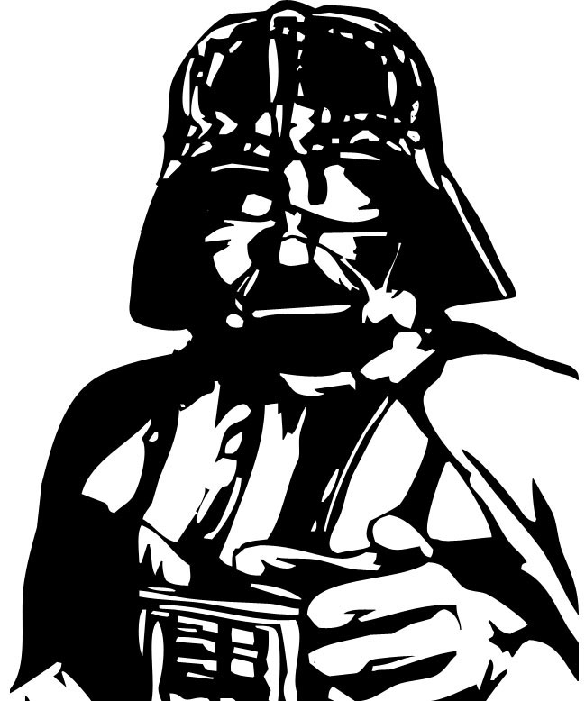 649x778 Drawn Darth Vader White Background