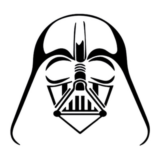 640x640 9.9cm9.3cm Darth Vader Star Wars Cartoon Stickers Vinyl Car