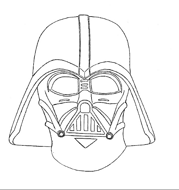 581x618 How To Draw Cartoon Darth Vader And Coloring Page