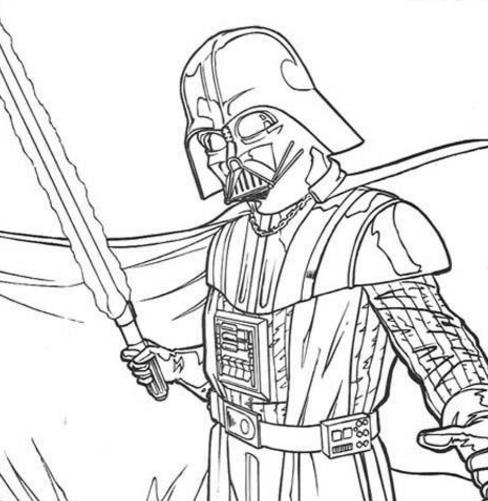 488x501 Star Wars Pages Rocks On Darth Vader Outline Drawing Coloring Pag