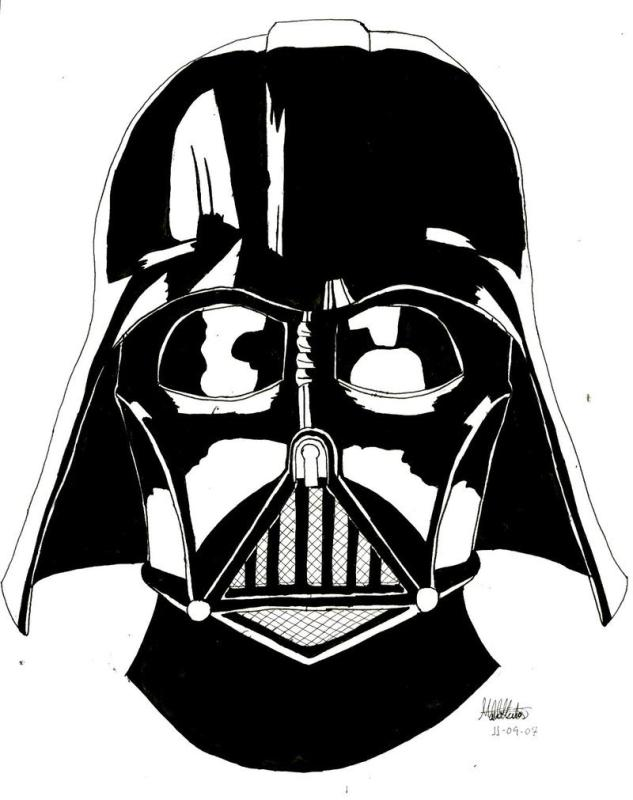 633x800 Darth Vader Head Clipart