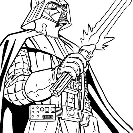 425x425 Cool Darth Vader Coloring Page 58 In Free Coloring Book With Darth