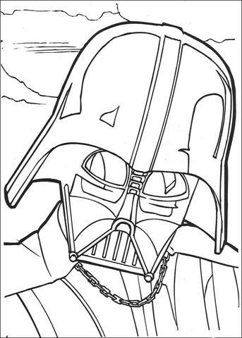 343x480 Darth Vader Face Coloring Page Free Printable Coloring Pages
