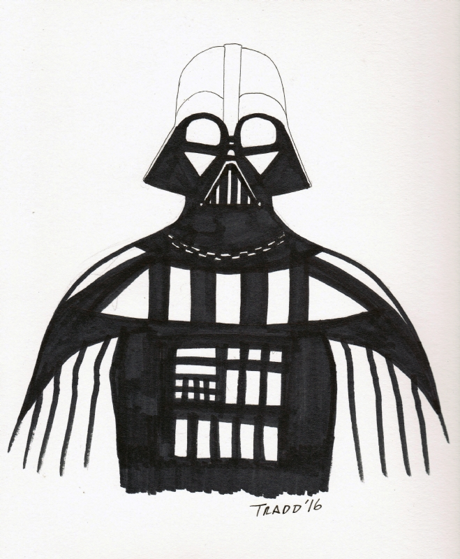 659x800 Darth Vader Star Wars Sketch By Tradd Moore, In Andrew Christman'S