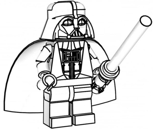 600x508 Lego Star Wars Coloring Pages Darth Vader