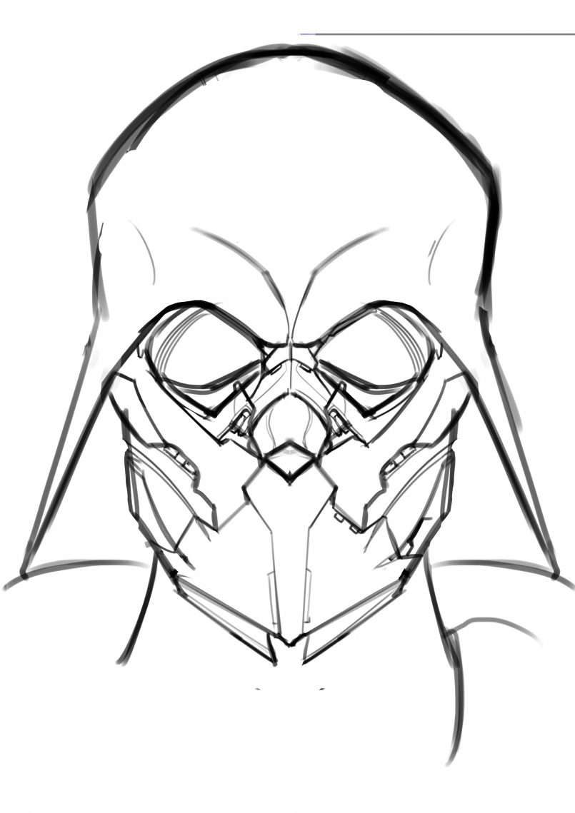 805x1139 Styles How To Draw Darth Vader Helmet As Well As How To Draw